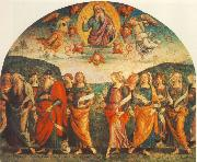 PERUGINO, Pietro The Almighty with Prophets and Sybils oil painting picture wholesale
