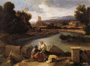 POUSSIN, Nicolas Landscape with Saint Matthew and the Angel oil painting picture wholesale