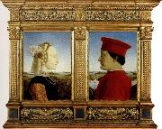 Piero della Francesca Portrait of the Duke and Duchess of Montefeltro oil painting picture wholesale