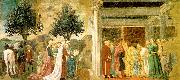 Piero della Francesca Adoration of the Holy Wood and the Meeting of Solomon and the Queen of Sheba oil painting picture wholesale