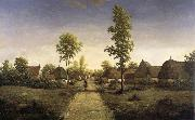 Pierre etienne theodore rousseau The village of becquigny oil painting picture wholesale