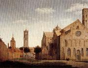 Pieter Jansz Saenredam St Mary's Square and St Mary's Church at Utrecht oil painting artist