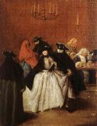 Pietro Longhi Masks in the Foyer oil painting picture wholesale