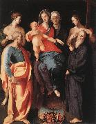 Pontormo, Jacopo Madonna and Child with St Anne and Other Saints oil painting picture wholesale