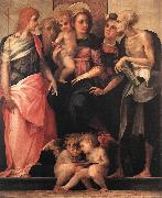Rosso Fiorentino Madonna Enthroned with Four Saints oil painting picture wholesale