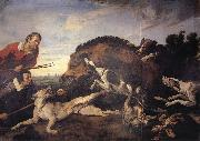 SNYDERS, Frans Wild Boar Hunt oil painting picture wholesale