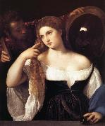 TIZIANO Vecellio Portrait d'une femme a sa toilette oil painting picture wholesale