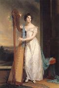 Thomas Sully Lady with a Harp:Eliza Ridgely oil painting artist