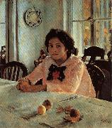 Valentin Aleksandrovich Serov Girl With Peaches oil painting picture wholesale