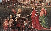 Vittore Carpaccio Meeting of the Betrothed Couple (detail) oil painting artist