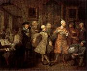 William Hogarth A Rake's Progress II The Rake's Levee oil painting picture wholesale