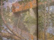 julian alden weir Le pont rouge oil painting picture wholesale