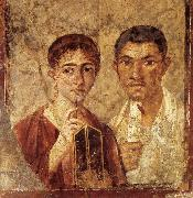 unknow artist Portrait of a Man and His Wife,from pompeii oil painting picture wholesale