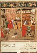 unknow artist Scene of Pharmacy,from Avicenna's Canon of Medicine oil painting picture wholesale