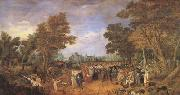 Adriaen van de Venne Allegory of the Truce of 1609 Between the Archduke of Austria (mk05) oil