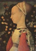 Antonio Puccio Called Pisanello Portrait of Ginevra d'Este (mk05) oil painting