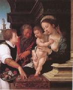 Barend van Orley The Holy Family (mk05) oil painting