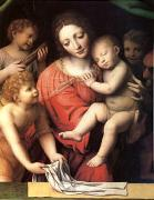 Bernadino Luini The Virgin Carrying the Sleeping Child with Three Angels (mk05) oil painting picture wholesale