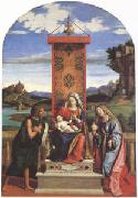 CARACCIOLO, Giovanni Battista The Virgin and Child between John the Baptist and Mary Magdalen (mk05) oil painting artist