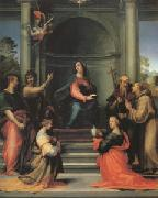 Fra Bartolommeo The Annunciation with Saints Margaret Mary Magdalen Paul John the Baptist Jerome and Francis (mk05) oil painting picture wholesale