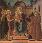 Francesco di Stefano called Pesellino The Virgin and Child Surrounded (mk05) oil painting picture wholesale