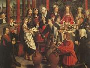 Gerard David The Marriage at Cana (mk05) oil painting picture wholesale