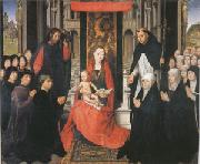 Hans Memling The Virgin and Child between st James and St Dominic (mk05) oil painting picture wholesale