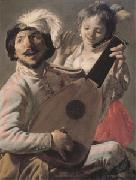 Hendrick Terbrugghen The Duet (mk05) oil painting picture wholesale