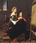 Jean Auguste Dominique Ingres Raphael and La Fornarina (mk04) oil painting picture wholesale