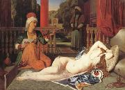 Jean Auguste Dominique Ingres Oadlisque with Female Slave (mk04) oil painting reproduction