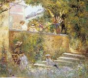 Lebasque, Henri Nono and Marthe in the Garden with Madame Lebasque oil painting artist