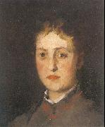 Leibl, Wilhelm Portrait of Lina Kirchdorffer oil painting artist
