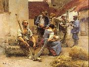 Lhermitte, Leon Harvesters' Country oil painting artist