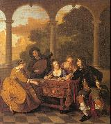 Loo, Jacob van Musical Party on a Terrace oil painting artist