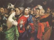 Lorenzo Lotto Christ and the Woman Taken in Adultery (mk05 oil painting picture wholesale