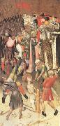 MARTORELL, Bernat (Bernardo) Two Scenes from the Legend of ST.George The Flagellation The Saint Dragged through the City (mk05) oil painting artist