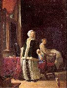 MIERIS, Frans van, the Elder A Young Woman in the Morning oil painting picture wholesale