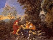 MOLA, Pier Francesco Herminia and Vafrino Tending the Wounded Tancred oil painting artist