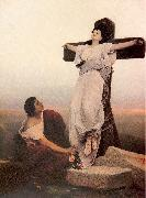 Max, Gabriel Cornelius von A Christian Martyr on the Cross oil painting picture wholesale