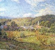 Metcalf, Willard Leroy The Village- September Morning oil painting picture wholesale