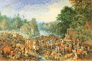 Michau, Theobald Village Market oil painting picture wholesale