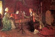 Millet, Francis David A Difficult Duet oil painting artist
