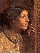 Moore, Albert Joseph The Mother of Sisera Looked out a Window oil painting artist