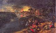 Mossa, Gustave Adolphe Scene of War and Fire oil painting picture wholesale