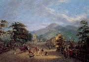 Mulvany, John George View of a Street in Carlingford oil painting artist