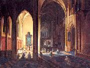 Neeffs, Peter the Elder Interior of a Gothic Church oil painting picture wholesale