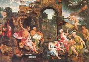 Oostsanen, Jacob Cornelisz van Saul and the Witch of Endor oil painting artist