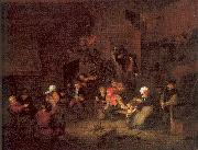 Ostade, Adriaen van Villagers Merrymaking at an Inn oil painting artist