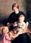 Page, Marie Danforth The Tenement Mother oil painting artist