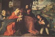 Palma Vecchio The Adoration of the Shepherds with a Donor (mk05) oil painting picture wholesale